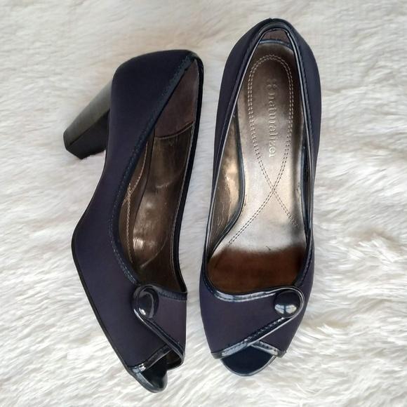 Naturalizer Shoes | Navy Blue Peep Toe